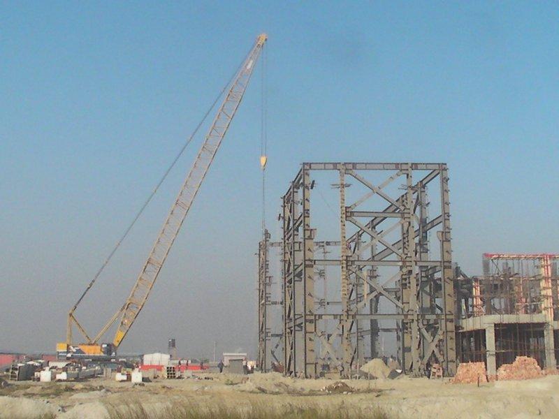 孟加拉國希拉甘杰主廠房吊裝鋼架.JPG